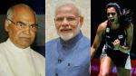 இந்தியாவுக்கு மீண்டும் பெருமை சேர்த்துவிட்டீர்கள் பி.வி. சிந்து..! ஜனாதிபதி,  பிரதமர் மோடி வாழ்த்து