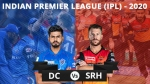 DC vs SRH : டாஸ் வென்ற டெல்லி.. ஹைதராபாத் அணியில் அதிரடி.. கேன் வில்லியம்சனை சேர்த்த வார்னர்!