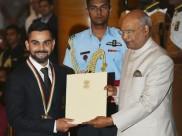 கிங் கோலிக்கு இன்னொரு மகுடம்.. ராஜீவ் கேல் ரத்னா விருது பெற்றார்!
