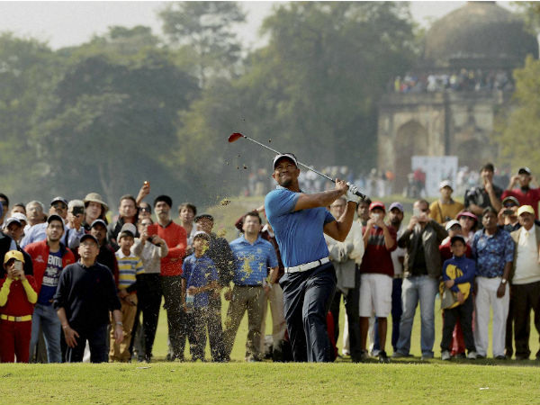 Tiger Woods Keeps Date With India Posts Nine Under Score Exhibition