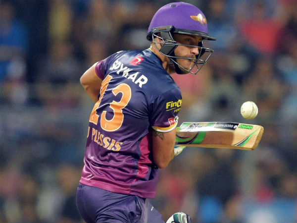 Pune's Faf du Plessis ruled out of IPL 2016