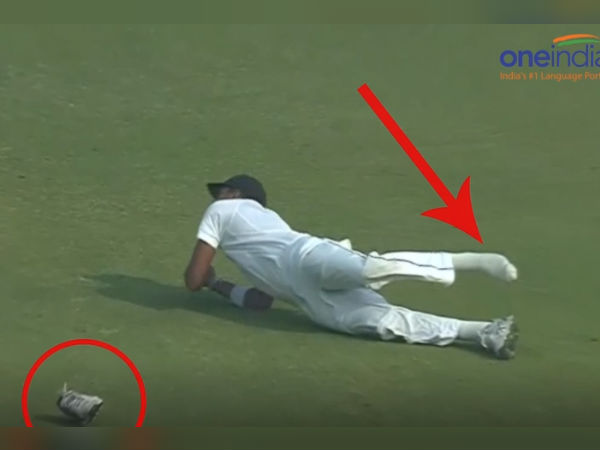 India Vs Sl 3rd Test 1st Day Lakmal Loses His Shoe While Dismissing
