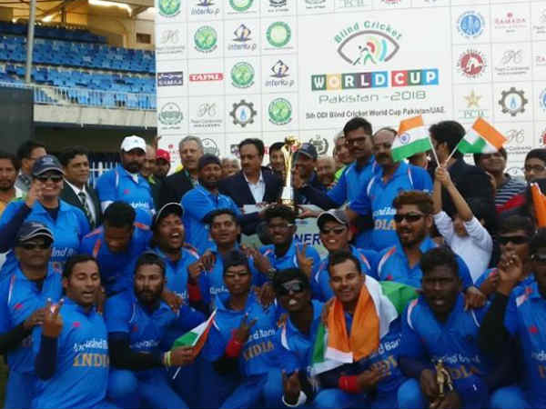 India Lift Blind Cricket World Cup Tittle