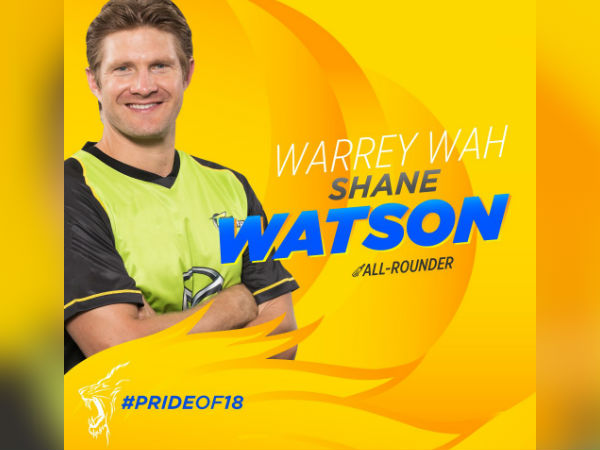 Shane Watson sold out to CSK in IPL auction 2018