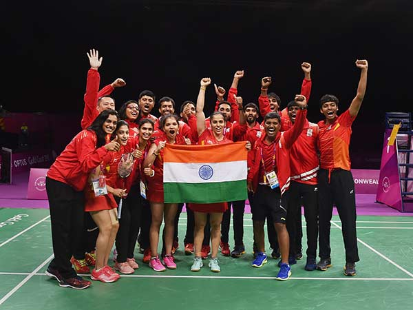 Another Gold India The Cwg From Badminton Team