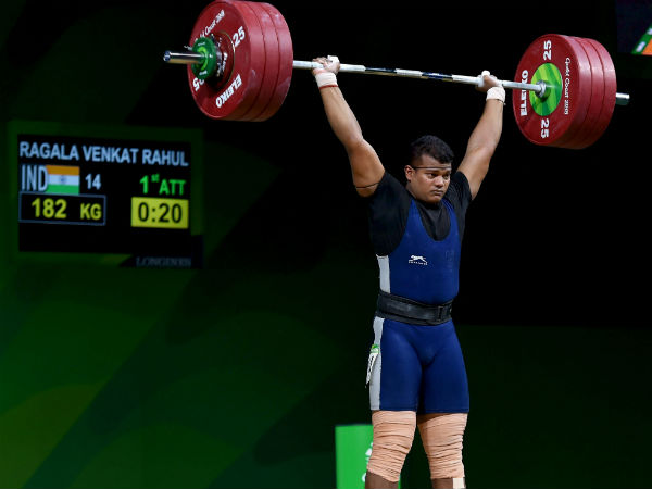 Rahul lifted Gold in CWG weighlifting