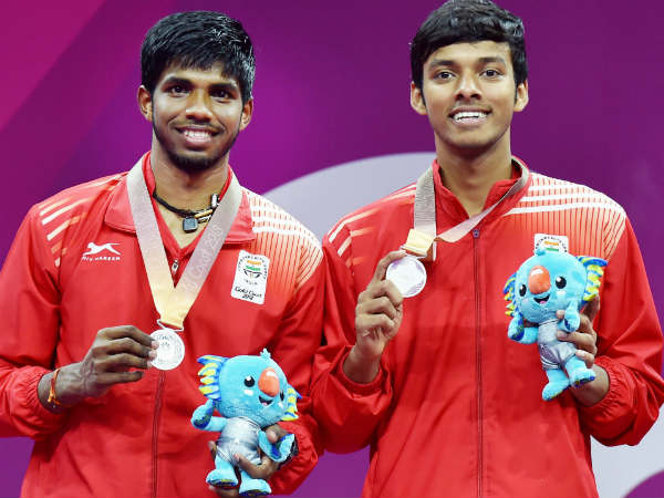 Commonwealth 2018: Satwik, Chandrashekhar Chirag pair gets silver for India in badminton men doubles