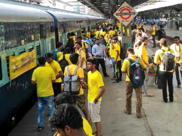 Another train for csk match in pune