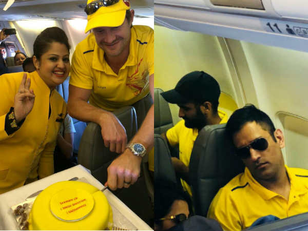 On Air Celebration Csk Team While Coming Back Chennai