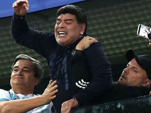 Emotional Maradona receives treatment after Argentina