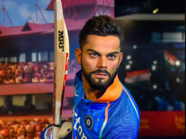 wax statue of virat kohli damaged