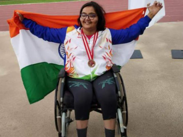 Ekta bhyan wins medals in the para grand prix