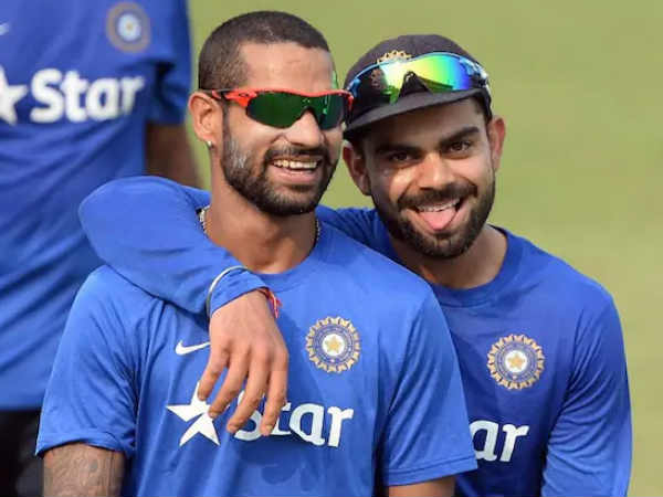 kohli and dhawan bhangra dance well received
