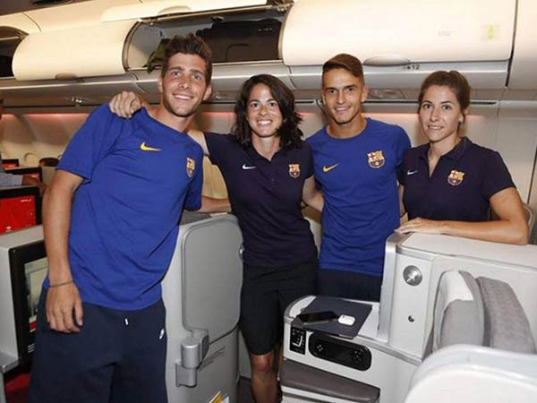 economy class travel for barcelona women team condemned