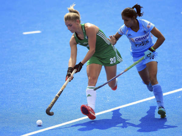 india bowed down to ireland in the women hockey world cup
