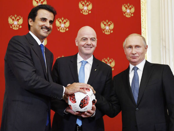 Russia hands over fifa hosting duty to qatar