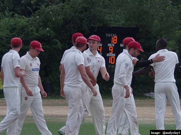 team all out of 18 runs in england