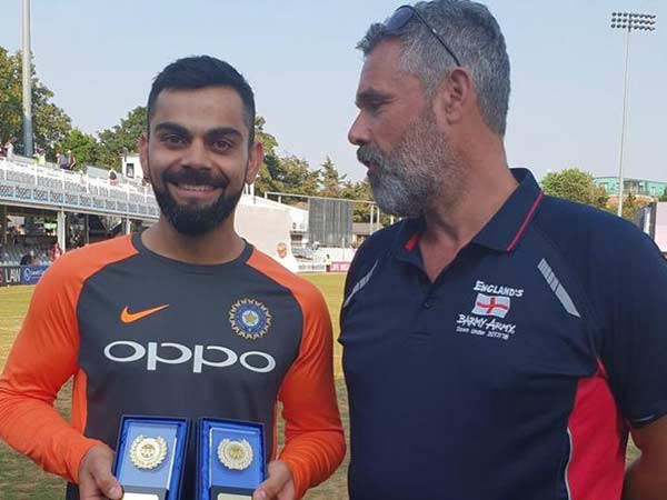 Virat kohli presented with barmy army awards