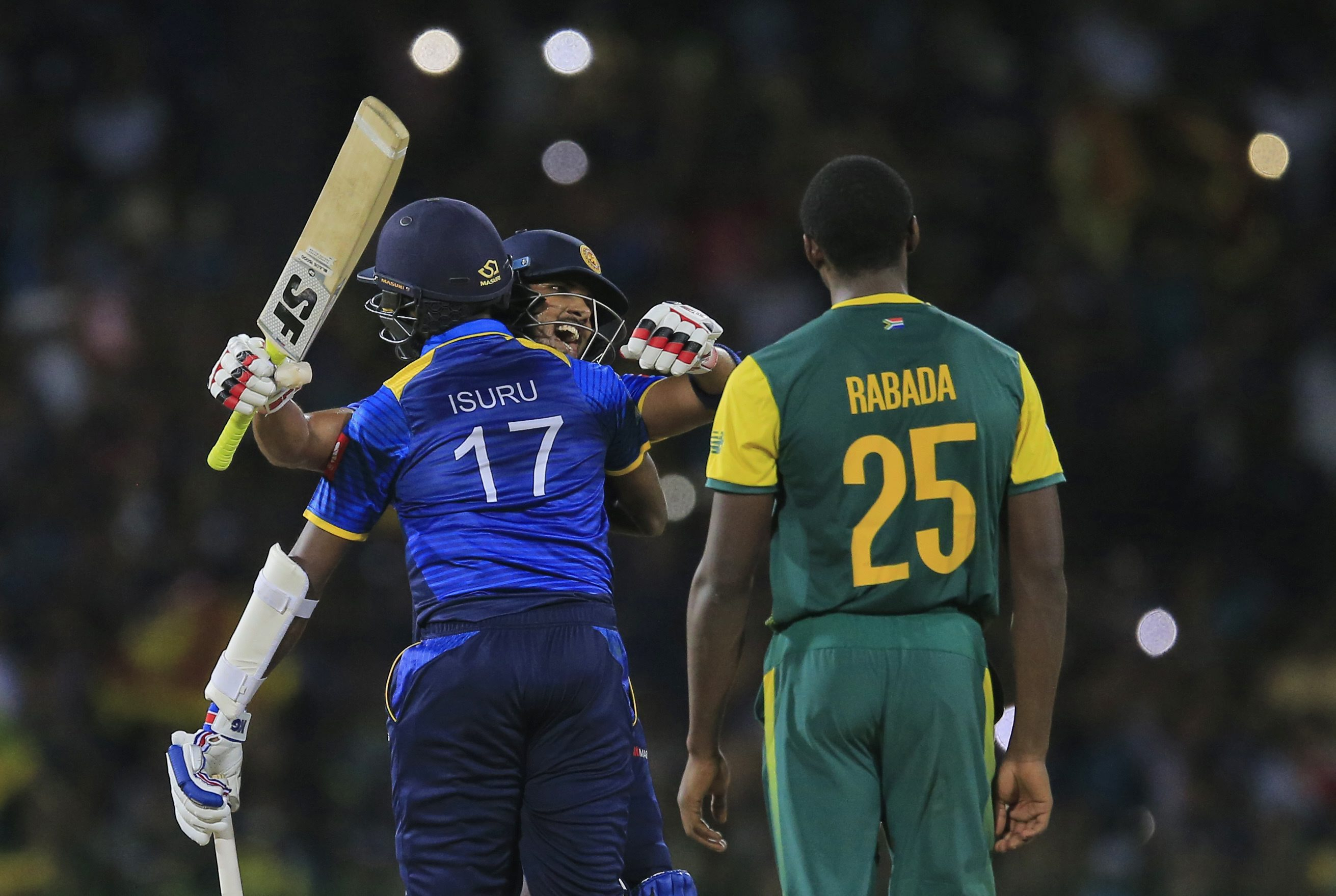 Srilanka beats south africa in only T20I