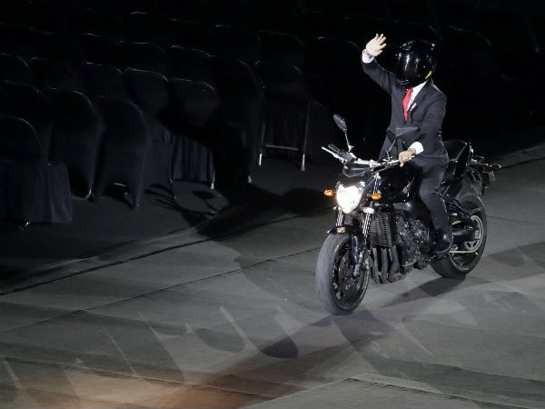 Asian Games Ceremony Starts President Entry In Bike