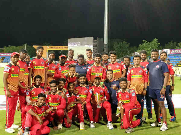 Chepauk super gillies tasted first win in the tnpl