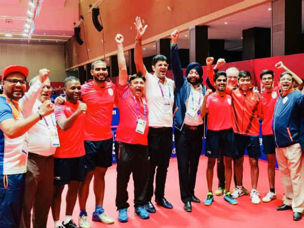 Asian Games 2018 – Table Tennis men team won bronze after losing semifinal match