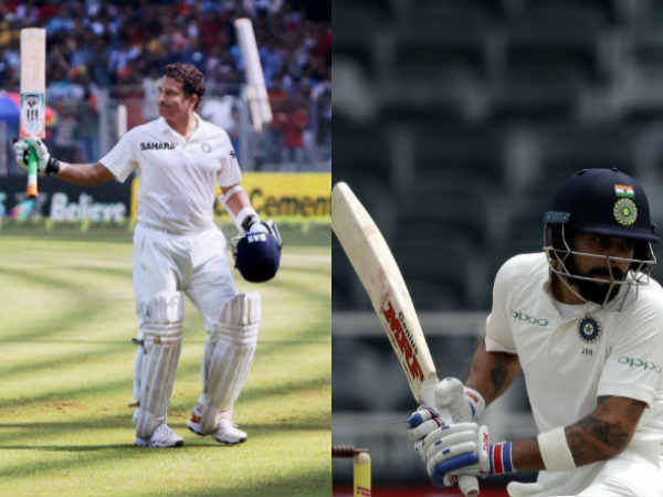 Kohli and Sachin both hits 103 runs in 197 balls in test match against England