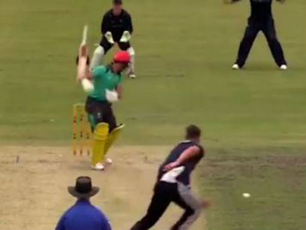Bizarre Hit wicket video of Jake Weatherald posted by Cricket Australia in a practice match