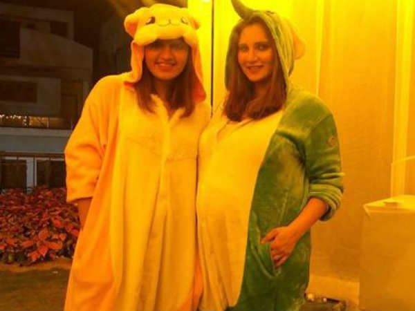 Sania Mirza Celebrate Animal Pyjama Party Which Looks So Cool And Fun
