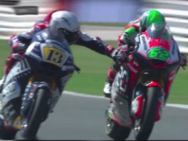 Bike Racer Romano Fenati banned after he pulled brake of his rival during a race