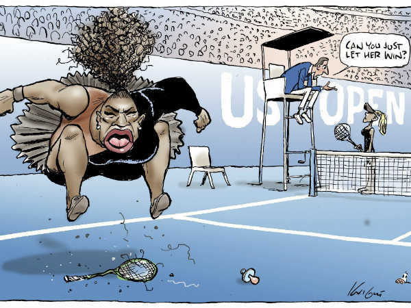 Australian Cartoonist Crticized Widely His Sketch On Serena Williams