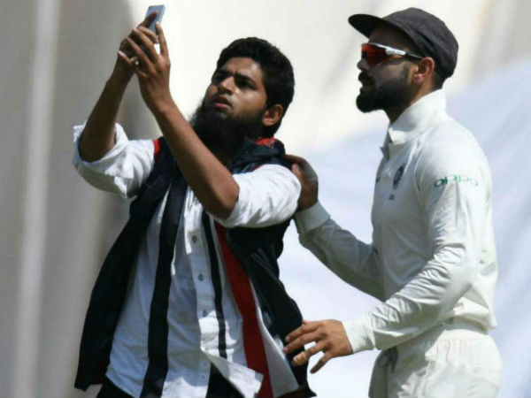 Fans Breached Security Taking Selfie With Kohli The India Vs Westindies