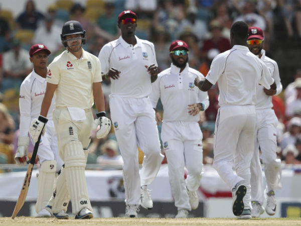 England out for 77 in embarrassing west indies collapse, in barbados test match