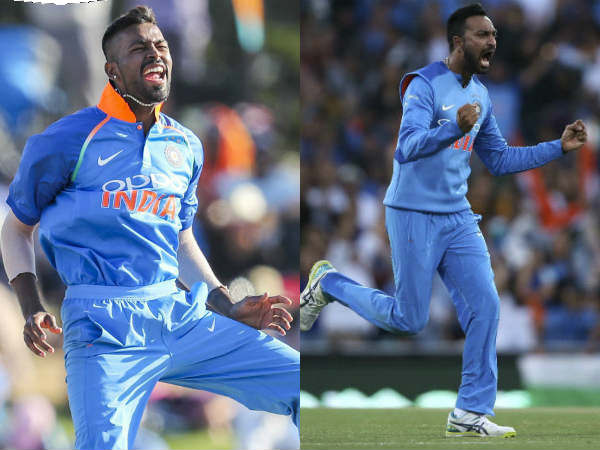 India Vs Newzealand Pandya Brothers Play Together Indian Team