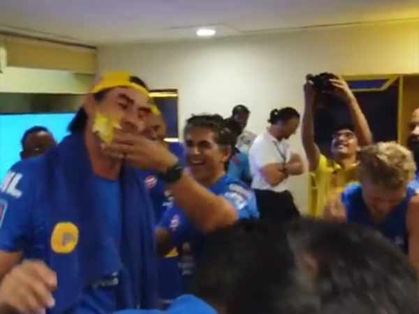 Csk coach fleming birthday party celebration video goes viral