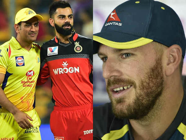 Finch Thanks All Time Greats Dhoni And Kohli For Wonderful Gesture