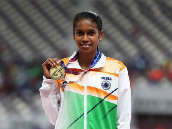 Asian Athletics Championships : P.U.Chitra won gold in women 1500m final