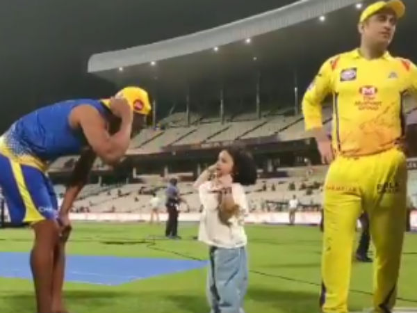 Dhonis Daughter Ziva Makes Fun With Bravo Goes Viral