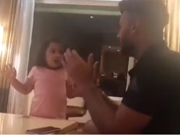 Dhoni daughter ziva teaching tamil to young player rishabh pant, video goes viral