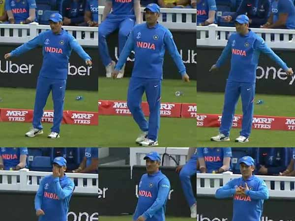 IND vs NZ World cup 2019 warm up match: Dhoni fielded during the match - video