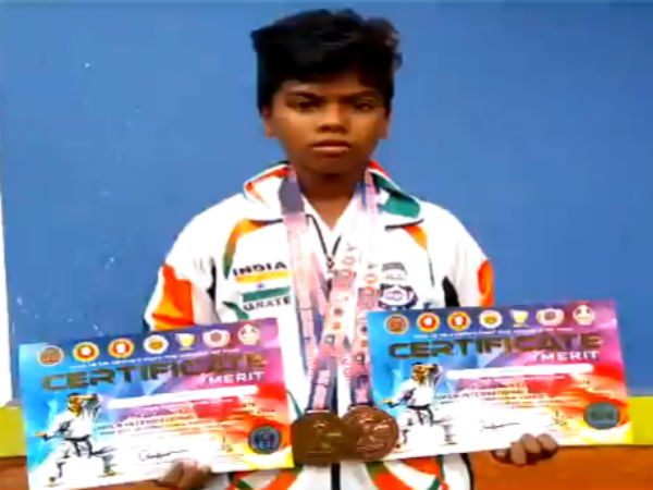 Kanyakumari School Student Won International Karate Championship In Malaysia