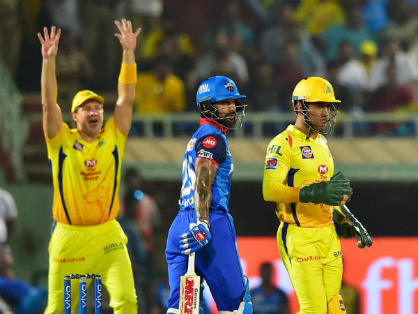IPL 2019 CSK vs DC : Deepak Chahar tries mankad to Shikar Dhawan for fun