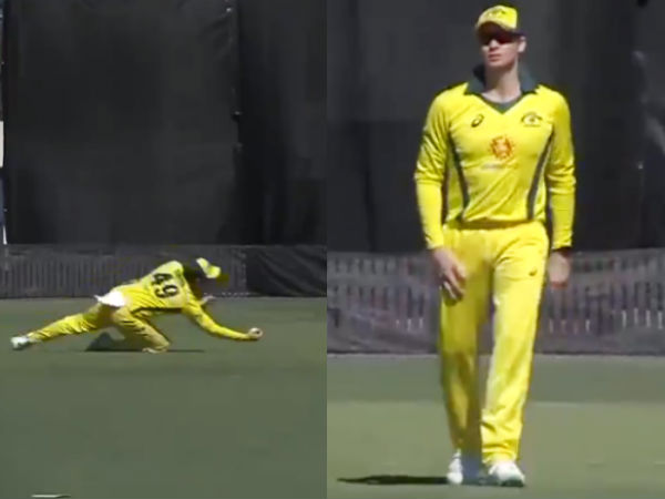 Steve Smith Takes A One Handed Stunner On Australia Return