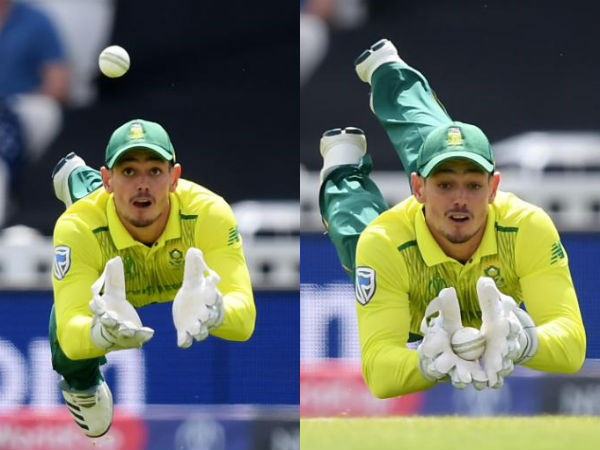 ICC World Cup 2019: A perfect catch by De Kock to send back Soumya Sarkar