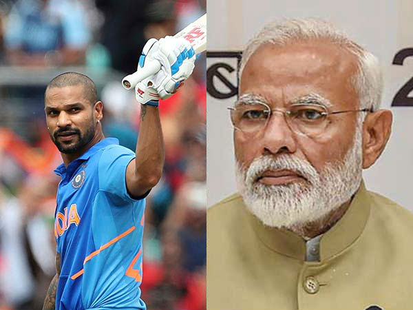 Cricket World cup 2019 : PM Narendra Modi wishes Shikar Dhawan for his speedy recovery