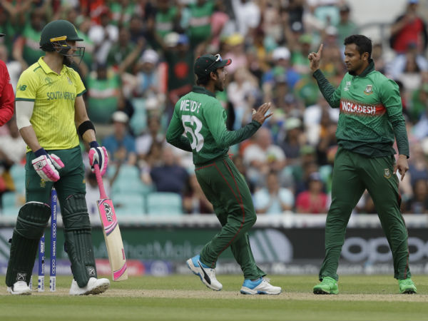 Sa Vs Ban Cricket World Cup 2019 South Africa Vs Banglades Match Live Score Update Highlights