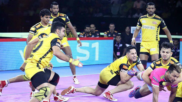 Pro Kabaddi League 2019 : Jaipur Pink Panthers vs Telugu Titans match result