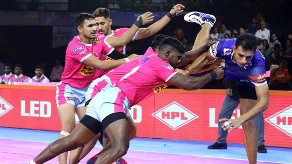 Pro Kabaddi League 2019 Up Yoddha Beat Pink Panthers In A Crucial Match