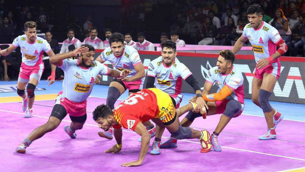 Pkl 2019 Jaipur Pink Panthers Vs Gujarat Fortunegiants Match Result And Highlights