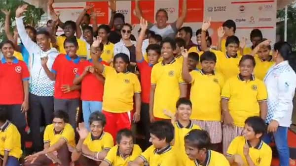 Varalaxmi Sarathkumar Promoting Special Olympics International Football Championship 2019